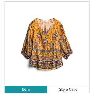 Blouse tunic worn once. From Stitch Fix size L